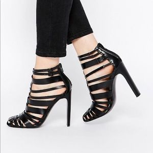 ASOS persuasion caged pumps sz 10