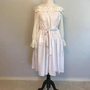NWOT Eloquii White off shoulder dress 16