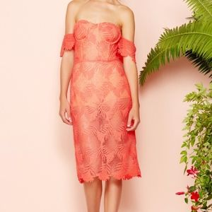 Lovers and friends lace midi dress.