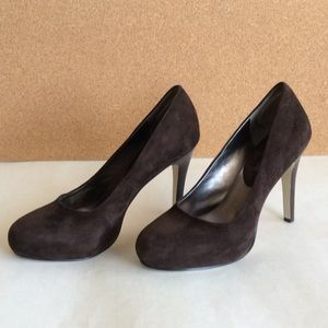 Suede closed toe pumps by Banana Republic