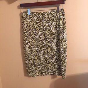 J.Crew animal abstract leopard print skirt 4