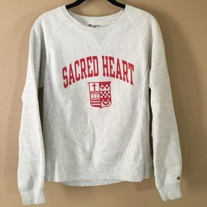 vintage champion y2k sacred heart sweatshirt 90s