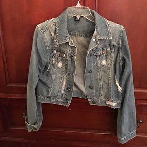 1/2 crop denim jacket
