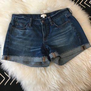 J. Crew denim cut off shorts