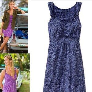 Athleta blue floral dress