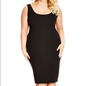City Chic plus size body con basic black dress