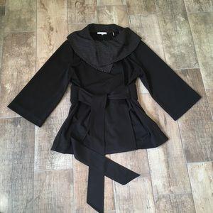 NWT Calvin Klein Black Jacket with Silver Studs