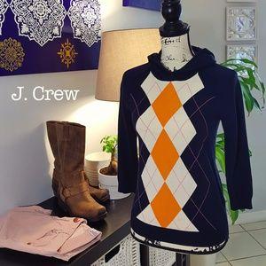 J. Crew argyle hoodie XS