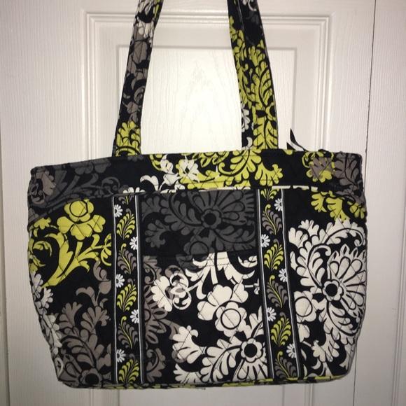 5a683bfa8ac Vera Bradley Bags   Black And Yellow Cloth Purse   Poshmark