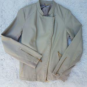 Calvin Klein faux Leather jacket NWT