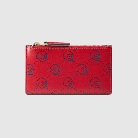 f5723abb8bc1 Gucci Bags | Ghost Card Case In Red Skull Monogram | Poshmark