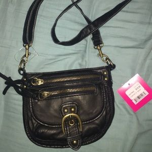 Handbags - New black leather cross body mini purse