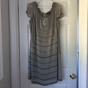 Adrianna Papell Beaded Dress 14W