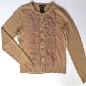 New York & Company Ruffles Detail Cardigan