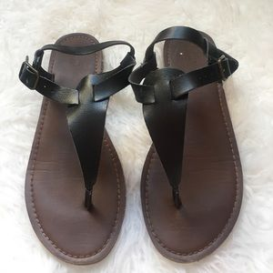 Mossimo black sandals- size 8