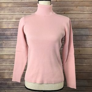 Lauren RL Pink Cotton Turtleneck Sweater Size M