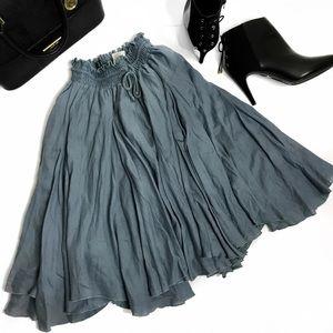 Circle Full Midi Skirt 22' Long Size M/L NWOT