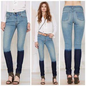 Nasty Gal Courtshop Shadow Dip Dye Skinny Jeans