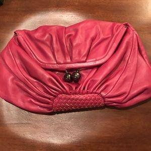 Pink Express clutch.