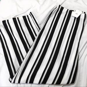 *SOLD*URBAN OUTFITTERS STRIPPED WIDE FLARE PANTS