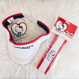 FINAL PRICE❗️NWT Hello Kitty Sun Visor & Headband