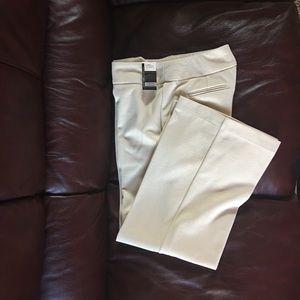 Off White/Cream Knit Petite Wide Leg Trousers