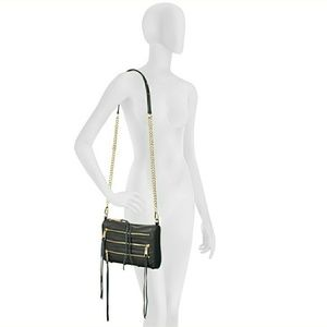 Rebecca Minkoff Black Snake Mini 5 Zip Crossbody