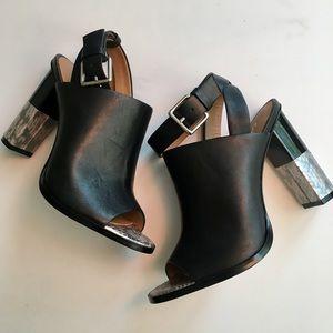 SAMPLE SALE FIND!  Calvin Klein peep toe heels