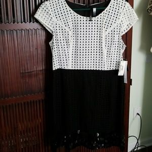 Black and white sequin dress Kensie