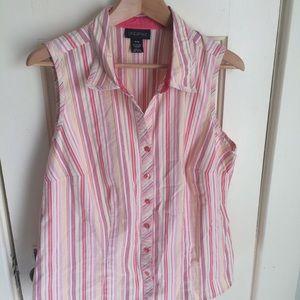Lane Bryant sleeveless button down shirt