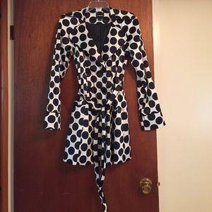 Black and White polka dot jacket size small