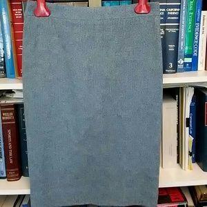 J. Crew pencil skirt sky blue wool tweed