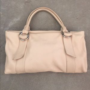 Leather zip top purse