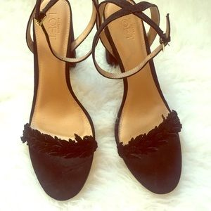 Ann Taylor loft black heels- size 11