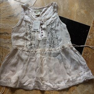 Urban Outfitters sheer tank gray/silver stitching