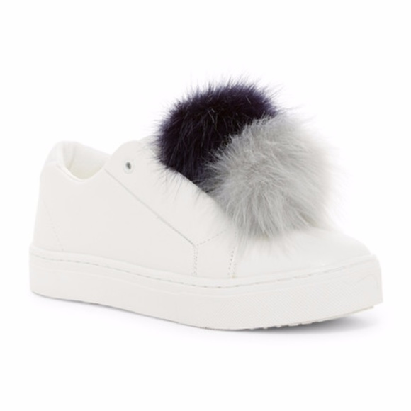 4d1cd780d7dfb0 Sam Edelman Leya Faux Fur Laceless Sneakers Sz 8.5
