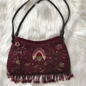 Gorgeous Express Burgundy Embroidered Purse 👛