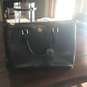 Tory Butch Large Black Tote