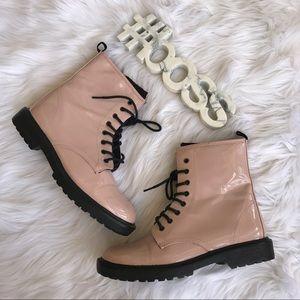 Vera Wang princess blush pink combat boots
