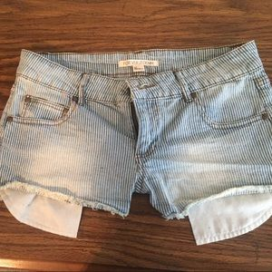 Forever 21 size 27 denim striped shorts