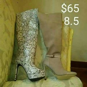 Shoes - NWT SNAKE SKIN OR SUEDE BOOTS
