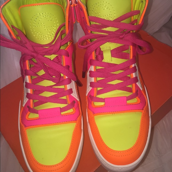 Sold Gucci Neon High Tops | Poshmark