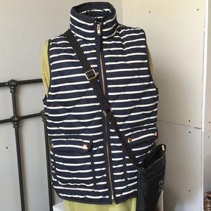J.Crew Navy / white Striped Vest...Like NEW!