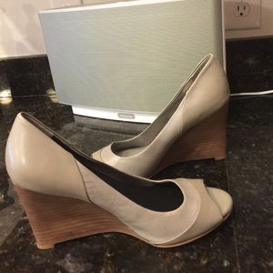 Leather Wedges! Great used condition