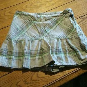 Cherokee flannel plaid skort