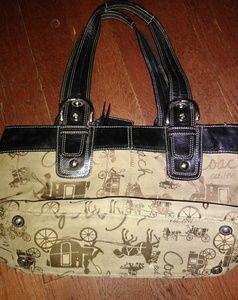 ❤RARECoachHorse & Carriage PleatedTote Bag ❤