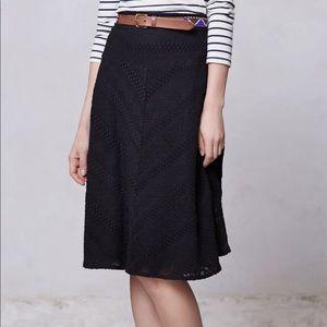 Leifsdottir Women's Black Fatima Midi Skirt