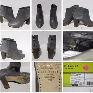 Ted Baker Lorca 3 Booties size 7.5 dark grey suede