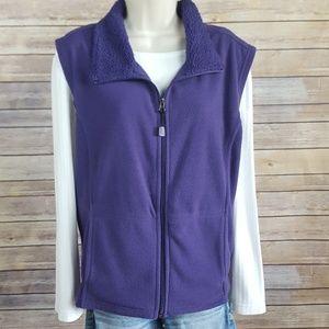 Baxter & Wells purple fleece vest