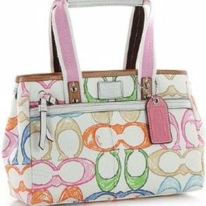 Coach scribble tote